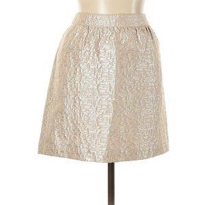 Ann Taylor Formal Beige Pencil Skirt